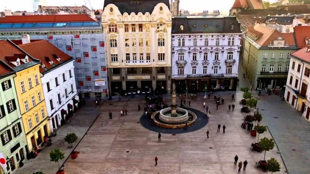Città vecchia il centro storico di Bratislava